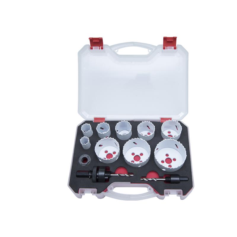 Kit de sierra de agujero bimetálico de 12 piezas