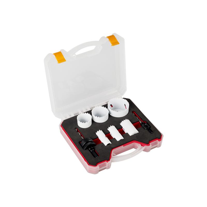 Kit de sierra de orificio bimetálico de 8 piezas