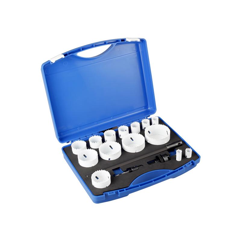Kit de sierra de orificio bimetálico de 17 piezas