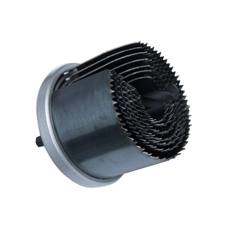 Juego de sierra perforadora de acero al carbono de 7 piezas 20-64 mm