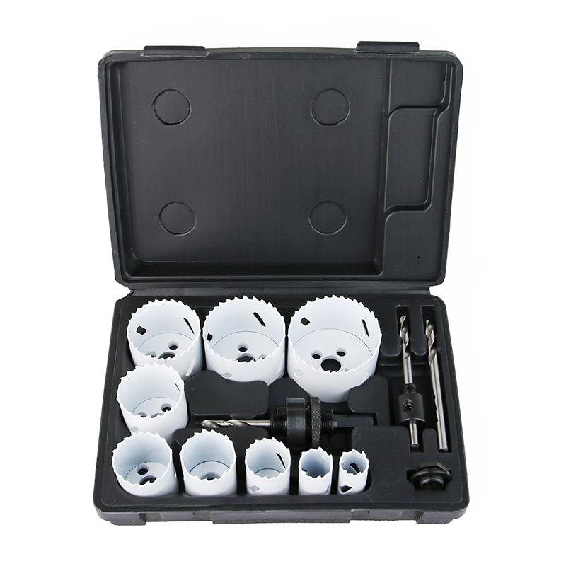 Kit de sierra de agujero bimetálico de 13 piezas
